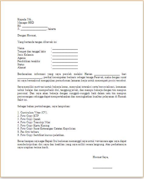 Surat Lamaran Ditujukan Kejaksaan Ri by Contoh Surat Lamaran Kerja Di Rumah Sakit Yang Baik Dan