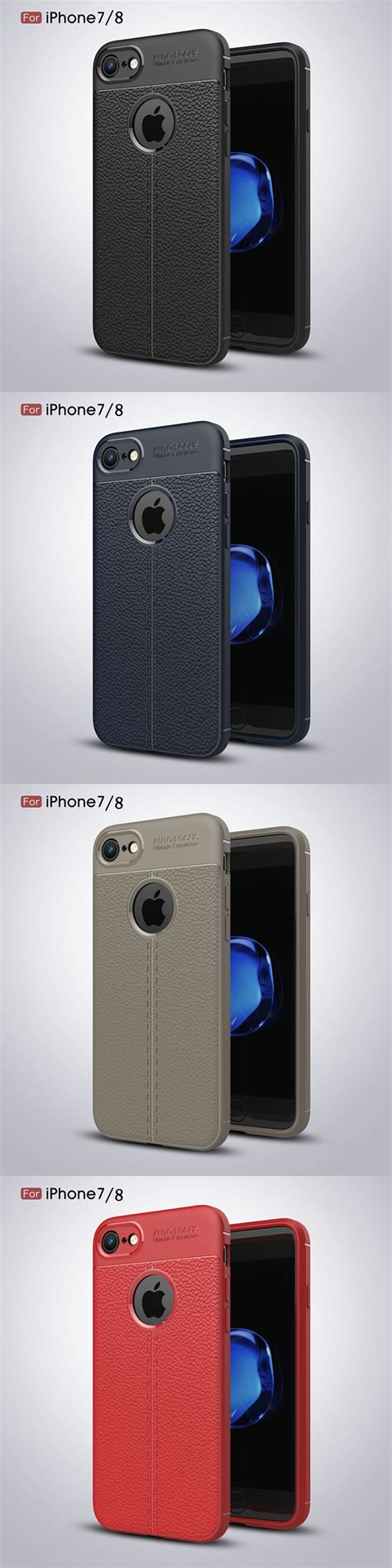 Anti Iphone 8 Plus 8 Soft Back Anti Knock Casing C2 bakeey anti fingerprint soft tpu litchi leather