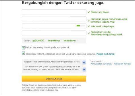 cara membuat twitter untuk perusahaan cara membuat twitter daftar twitter baru detiksoloweb