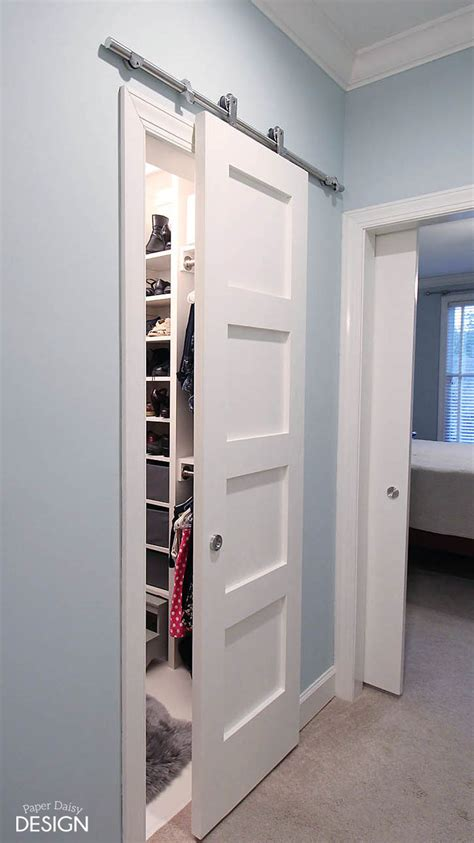 diy closet door from cluttered mess to mini dressing room a diy closet makeover