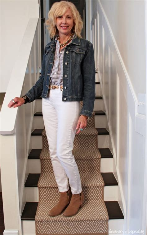 fashion   white jeans  fall southern hospitality