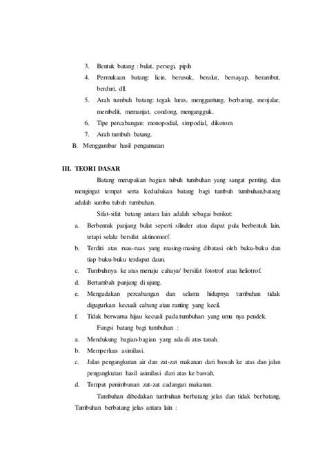 laporan praktikum membuat manisan pepaya laporan praktikum 4 bentuk batang arah tumbuh permukaan