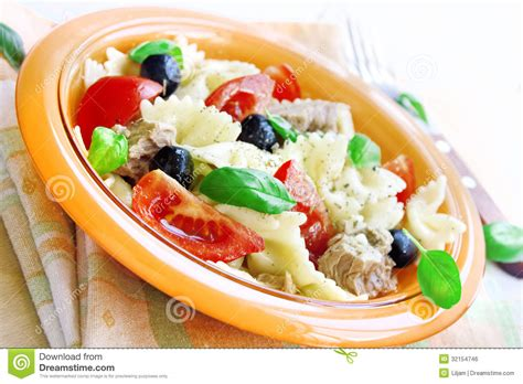 Noodles Italian Kitchen by Salad With Tuna Pasta And Tomatoes Royalty Free Stock Image Image 32154746