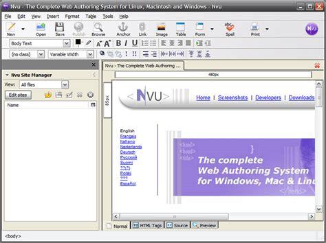 kompozer web design html editor kompozer portable formerly nvu portable portableapps
