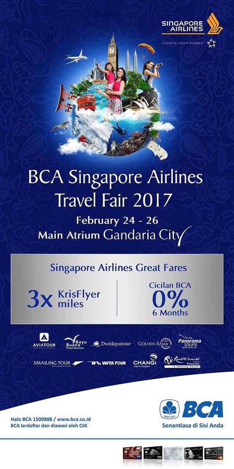 bca singapore airlines bca singapore airlines travel fair gandaria city jakarta