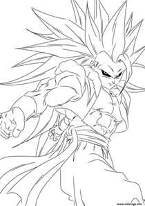 coloriage dragon ball sangoku super sayen dessin