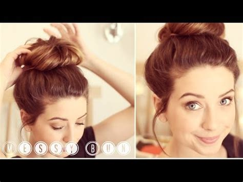 youtube quick and easy hairstyles zoella how to messy bun zoella makeup videos