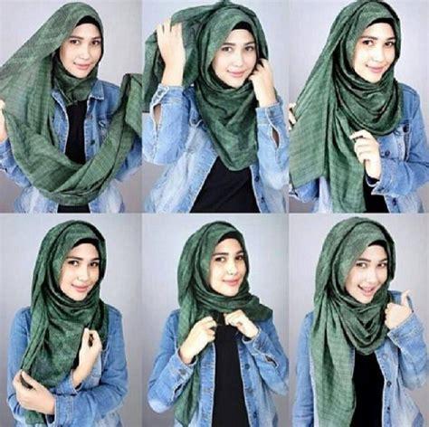 tutorial jilbab pasmina bahan kaku kumpulan tutorial hijab segi empat simpel dan modis