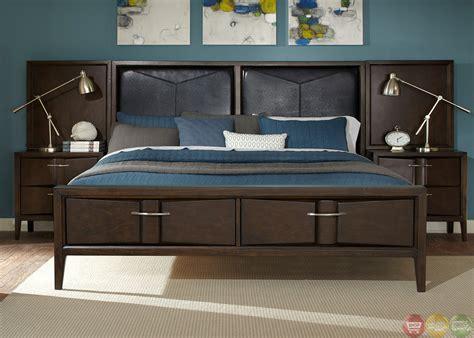 java bedroom set arterra contemporary java finish wall bedroom set