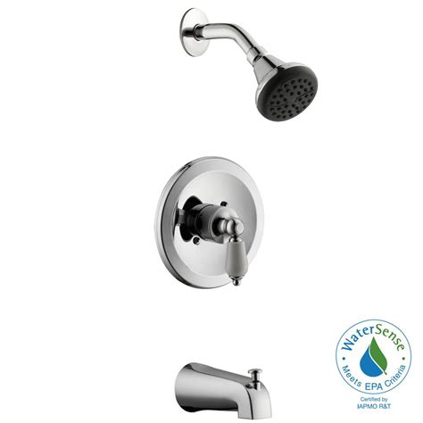Glacier Bay Teapot Faucet by Glacier Bay Teapot Single Handle Tub And Shower Faucet In Chrome Hd873x 8601 The Home Depot