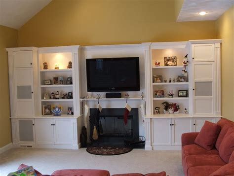 built in entertainment center with fireplace modern home