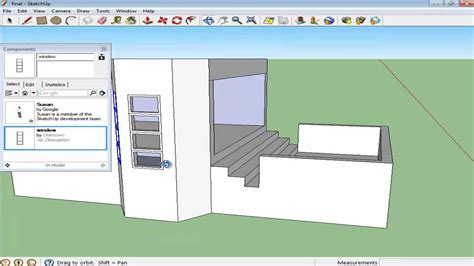 google sketchup tutorial copy how to create components in google sketchup youtube