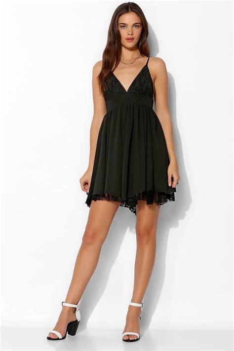 Dress Piramid Black Mini Dress Sparkle Fade Triangle Lacetop Chiffon Mini Dress In