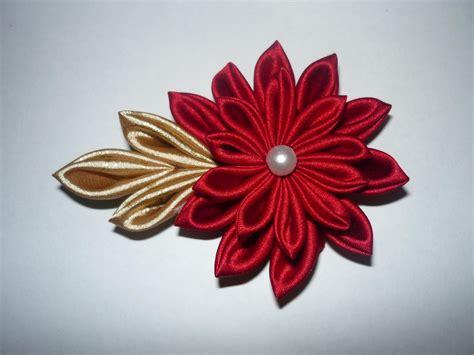 imagenes de flores japonesas en tela tutorial flor kanzashi paso a paso kanzahi flower