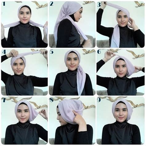 tutorial hijab segi empat simple kekinian best 25 tutorial hijab segi 4 ideas on pinterest hijab