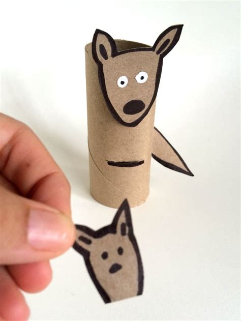kangaroo paper craft kangaroo toilet paper roll crafts c r a f t