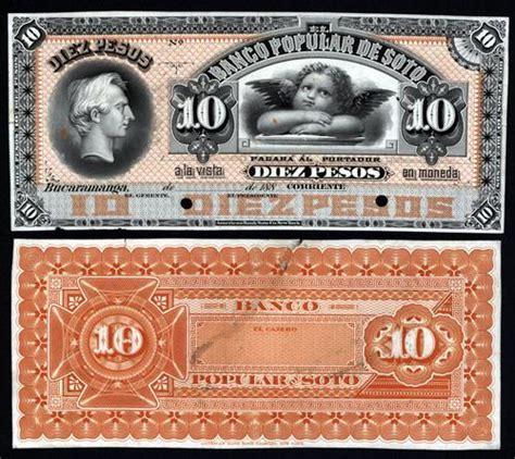banco popular de colombia colombia banco popular de soto 1880 s issue proof