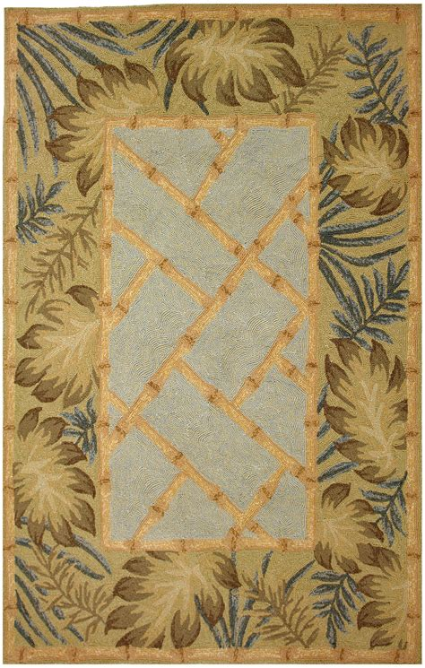 tropical accent rugs tropical palms bamboo rug