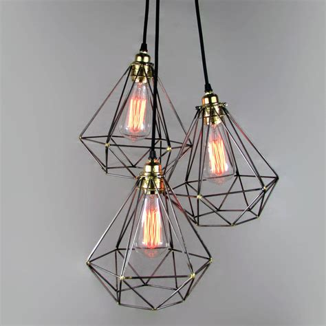 Cool Ceiling Lights Diamond Cage Cluster Pendant By Unique S Co