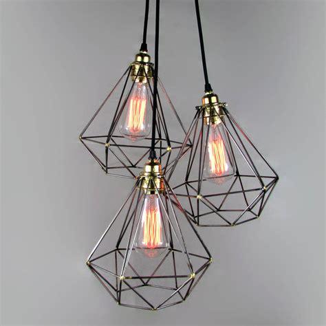 diamond cage cluster pendant by unique's co. notonthehighstreet.com