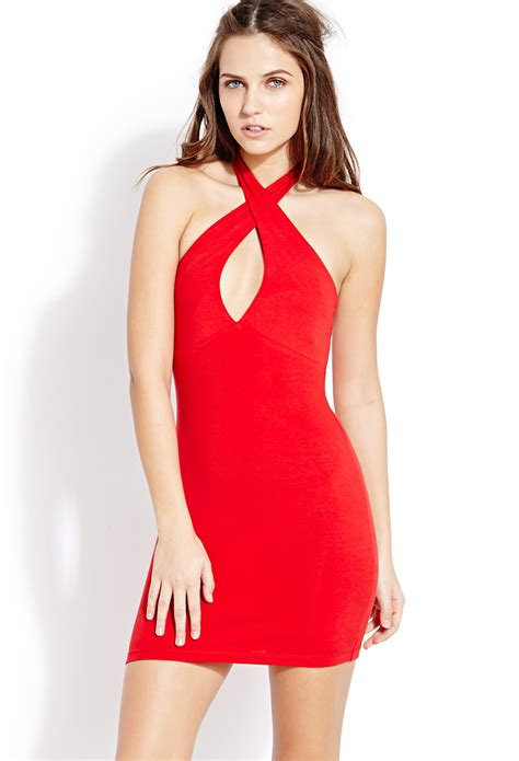 Forever 21 Halter Dress A La Alaina From American Idol by Forever 21 Must Halter Dress In Lyst