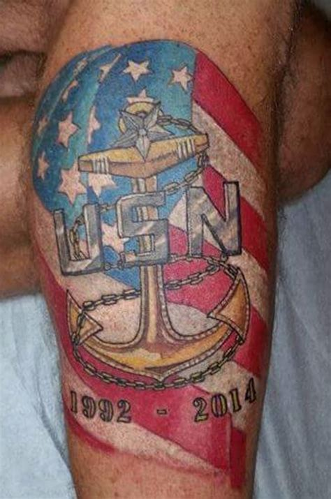 navy chief tattoo designs navy from the us navy veterans on