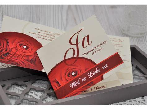 Einladungskarten Hochzeit Rot by Einladungskarten Hochzeit Hochzeitskarte Rot