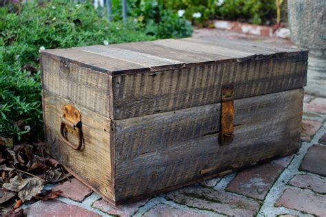 Handmade Wooden Trunks - storage table wooden trunk handmade rustic wood