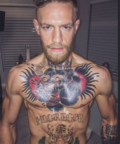 mcgregor face tattoo conor mcgregor might be out for 6 months after breaking