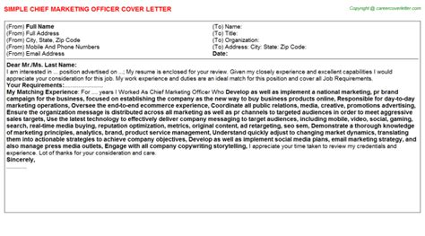 sle cover letter for chief marketing officer cover
