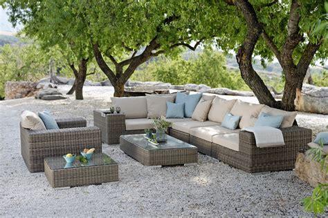 Garten Lounge by Gartenlounge Aus Kunstrattan Alu Chromstahl Und Holz
