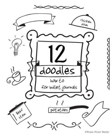 printable bullet journal instructions 12 doodles how to for bullet journals bullets parties