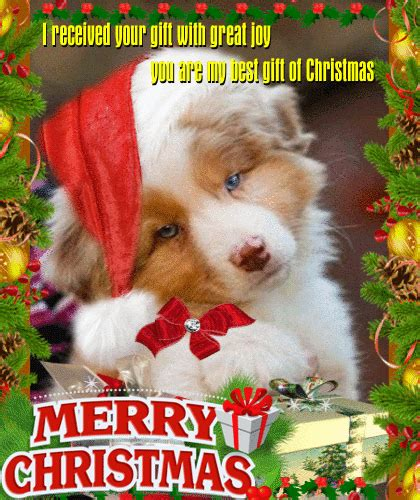 received  christmas gift    ecards greeting cards