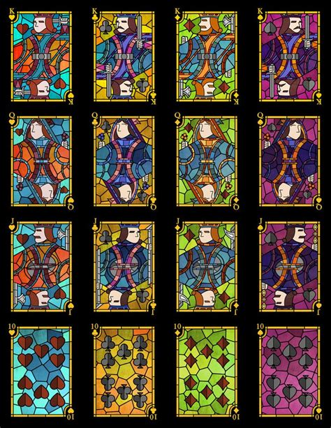 Glasses Com Gift Card - stained glass playing cards by undefined knowledge image of stained glass playing