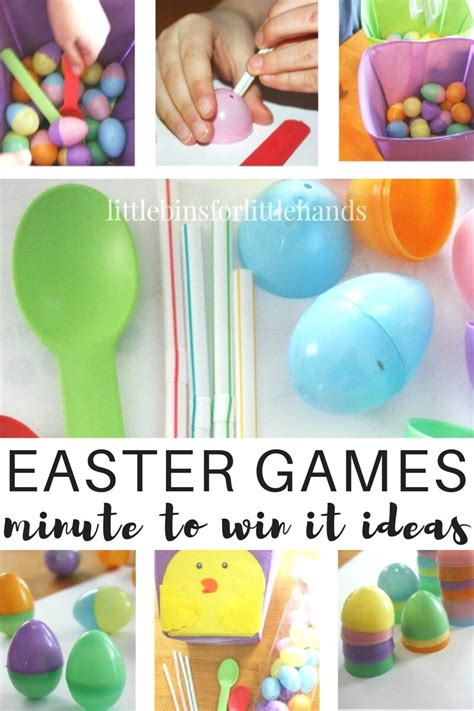 easter games minute to win it easter games family game time
