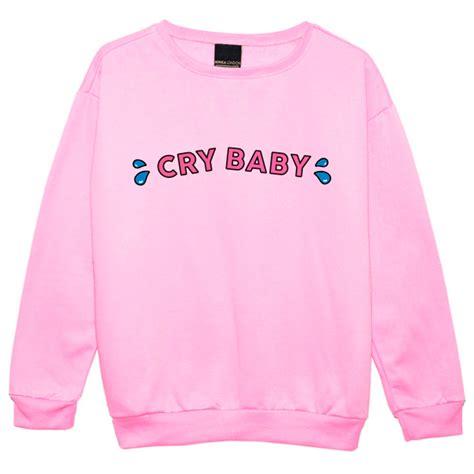 Kawai Sweater Pink cry baby sweater jumper top womens grunge pink kawaii harajuku ebay