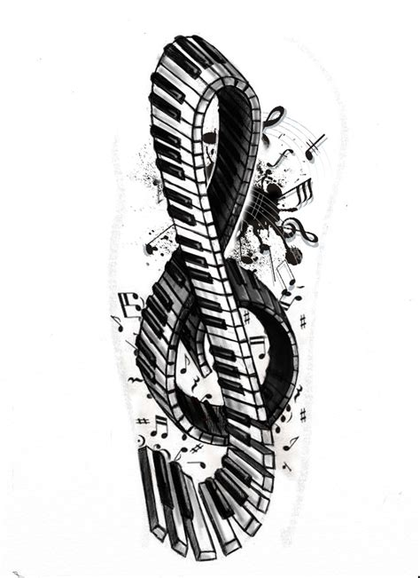 piano key tattoo designs piano tattoos and designs page 38