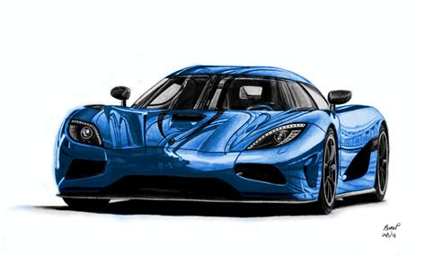 Koenigsegg Agera R Drawing Blue Version By Pavee12120 On