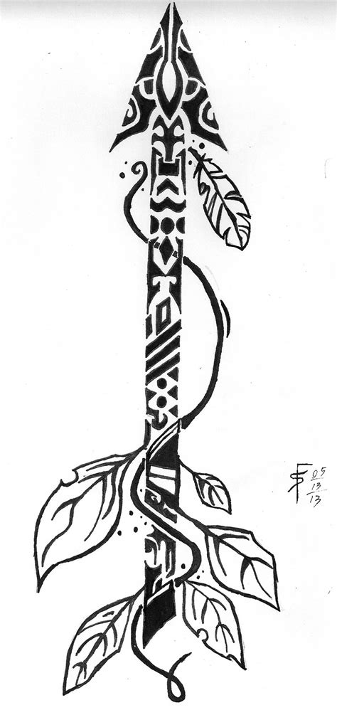 tribal bow and arrow tattoo tribal arrow by draconistheory on deviantart