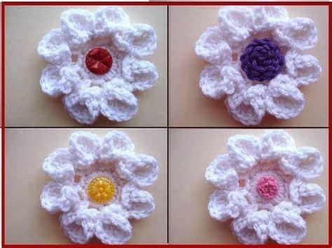 crochet pattern flower youtube crochet flower curled petal rose how to diy youtube