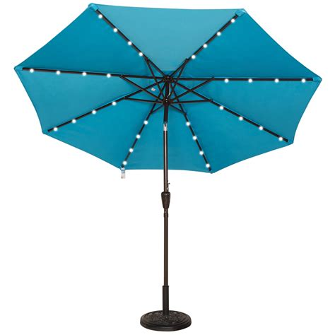Lighted Patio Umbrellas Lighted Umbrella For Patio Home Outdoor Decoration