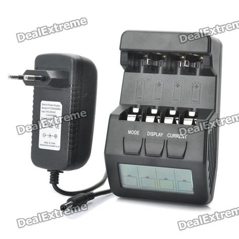 Lcd Charger 5hrs For Battery Aa Aaa Rechargeable Vanson V 6680 2 5 quot lcd intelligent digital battery charger for 4 x aa aaa rechargeable batteries black