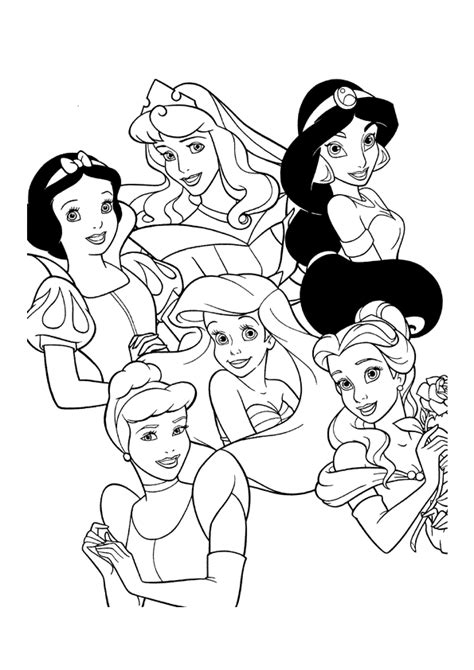 All Disney Princesses Coloring Pages all disney princess coloring pages coloring