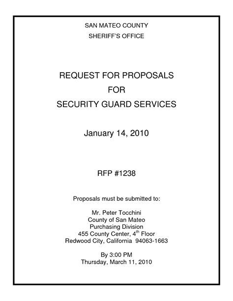 Proposal Template » Cctv Proposal Template   Cover Letter