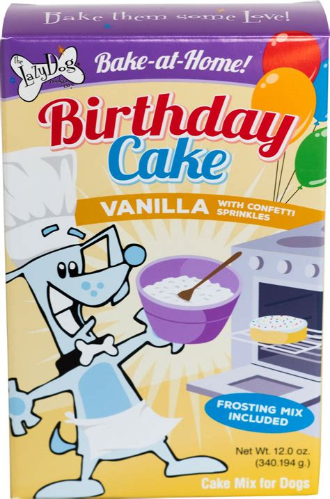 cake mix for dogs the lazy cookie co bake at home vanilla birthday cake mix treat chewy