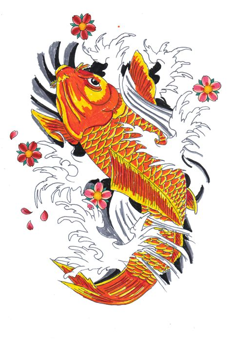 koi fish drawing color koi paintings search result at paintingvalley