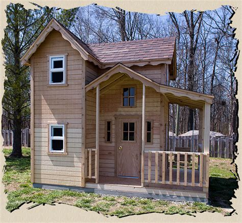 backyard clubhouse plans the mini country cottage outdoor playhouse features a