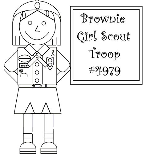 Girl Scout Coloring Pages Cookies Coloringstar Scout Brownie Coloring Pages