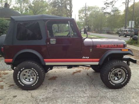 Used Jeeps For Sale In Alabama Find Used 1981 Jeep Cj7 In Birmingham Alabama United