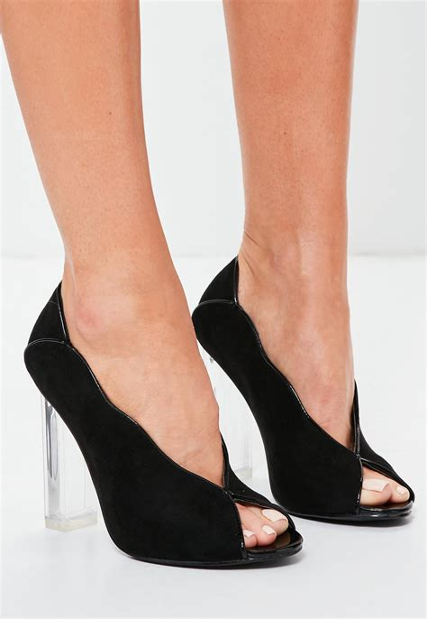Open Toe High Heel Pumps peep toe black heels ha heel